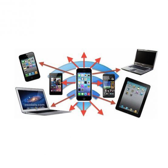 اشتراک اینترنت مویابل با دستگاه هایی دیگر